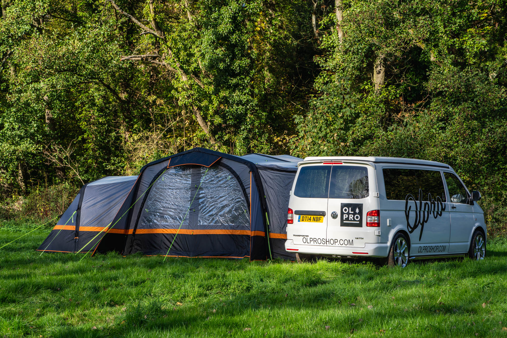 Olpro corpoarte video production van and tent