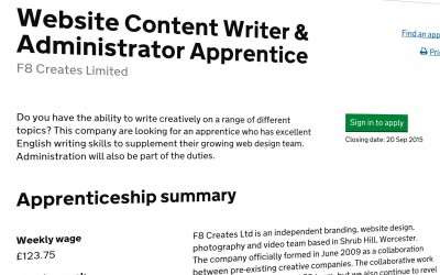 We are hiring an Apprentice