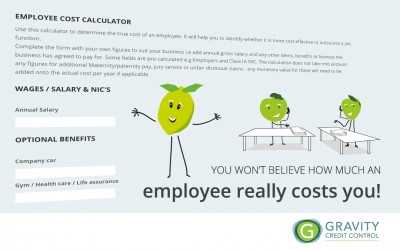 We created an Employee Cost Calculator for Gravity Credit Control!