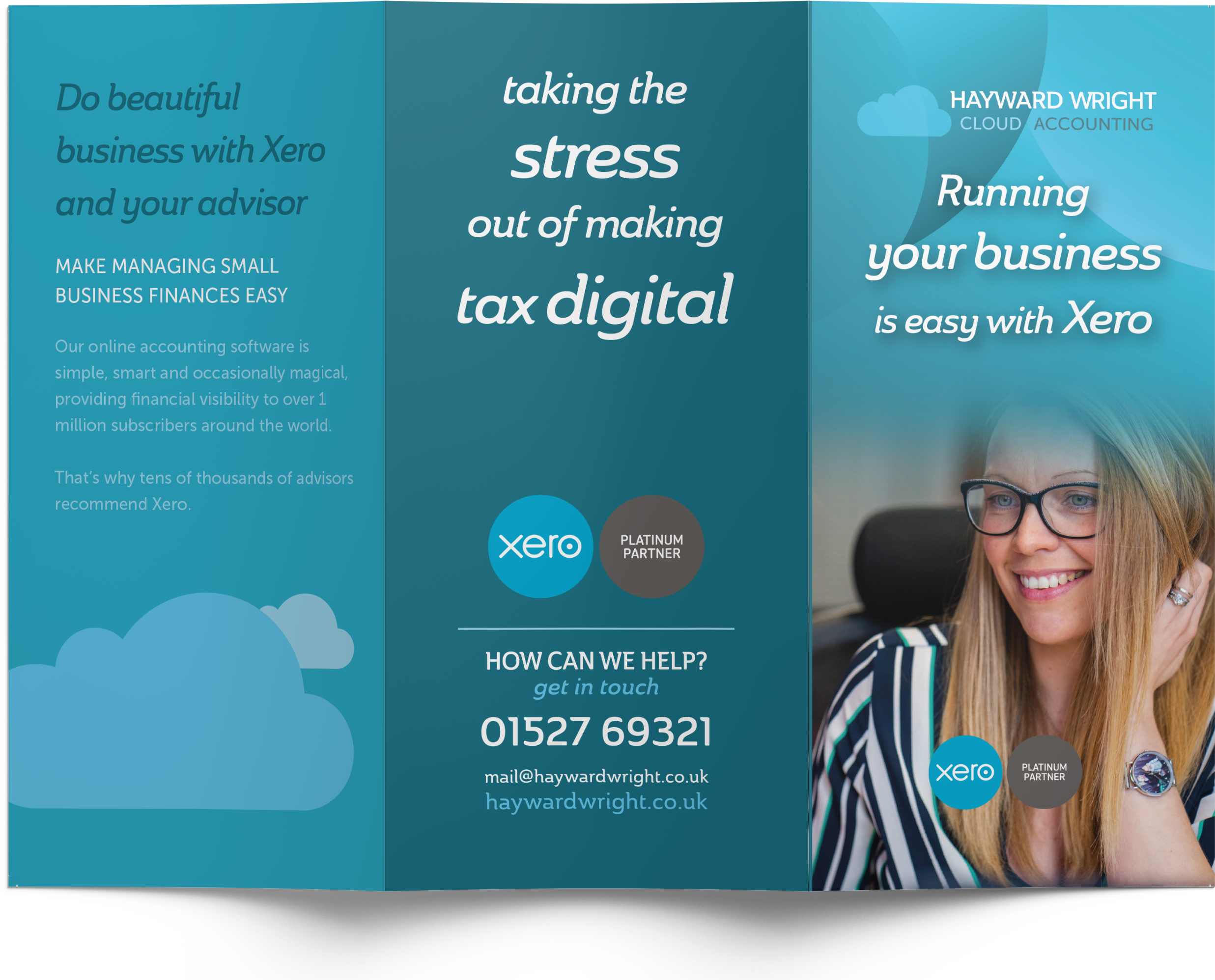 hayward wright cloud accounting business branding leaflet