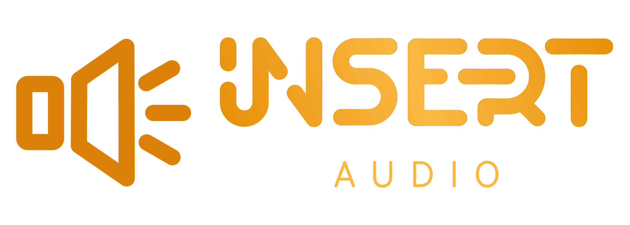 insert audio rebranding gold logo