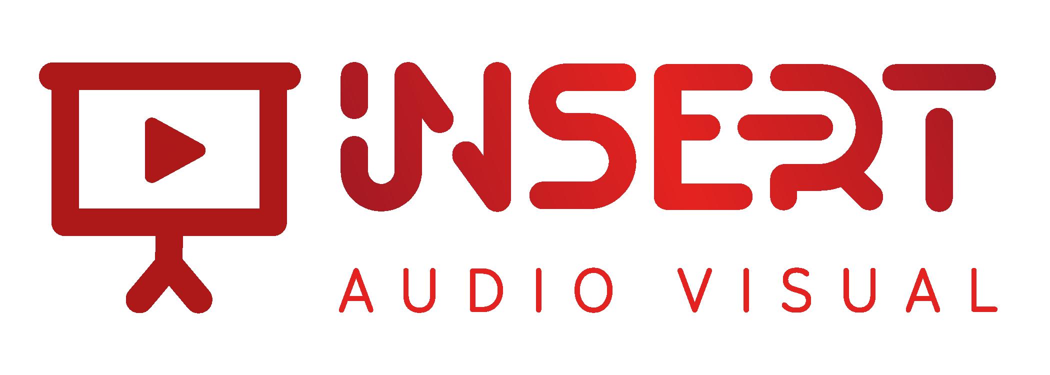 insert audio visual rebranding logo
