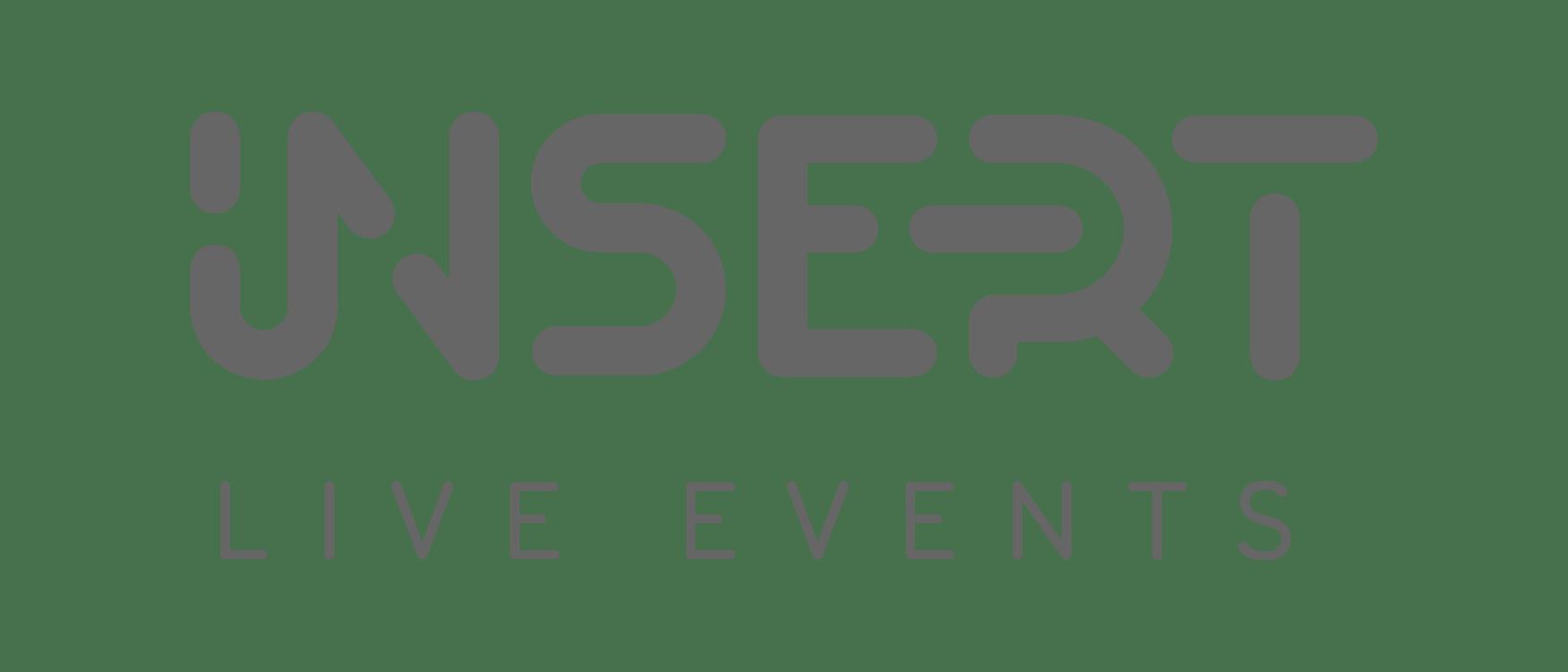 insert live events rebranding, grey logo