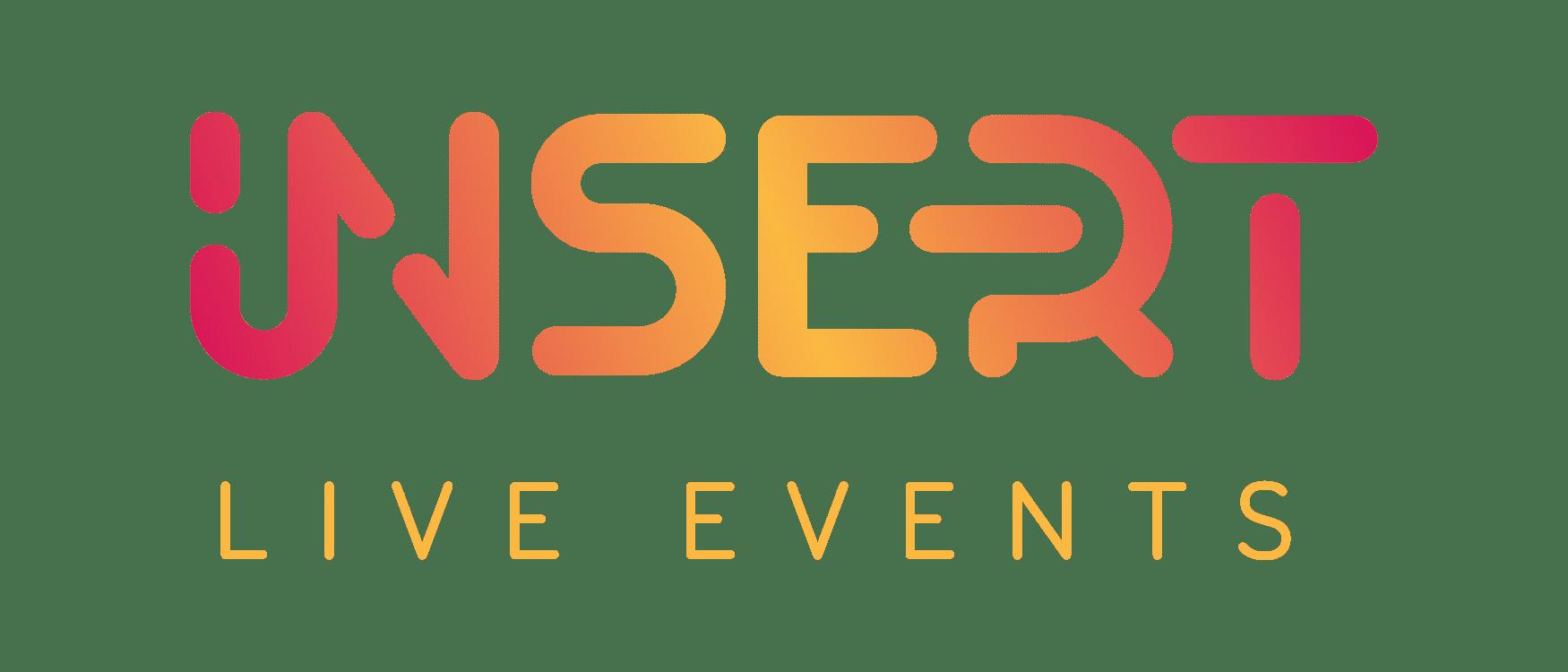 insert live events rebranding, main logo