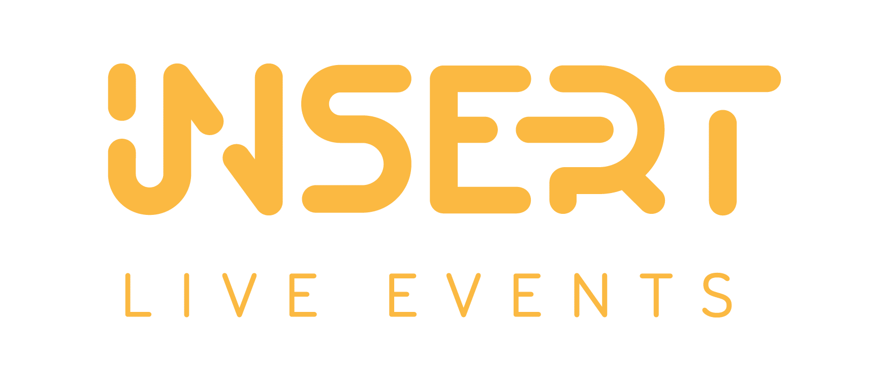 insert live events rebranding, yellow logo