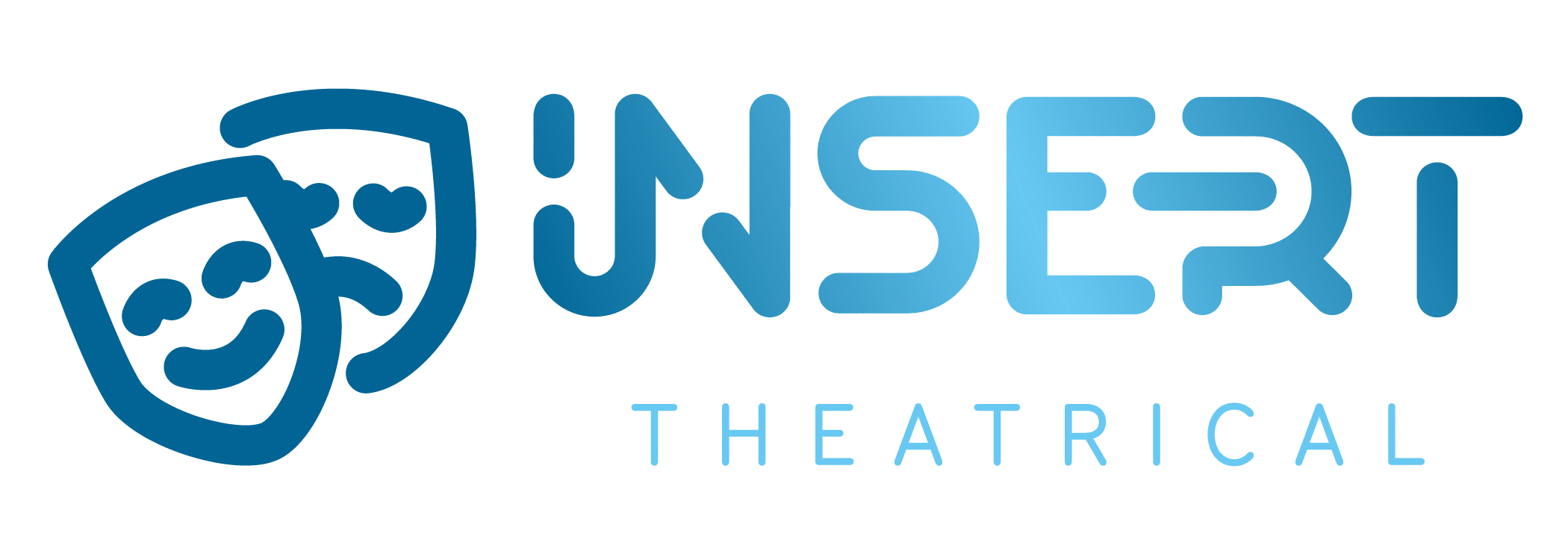 insert theatrical rebranding blue logo