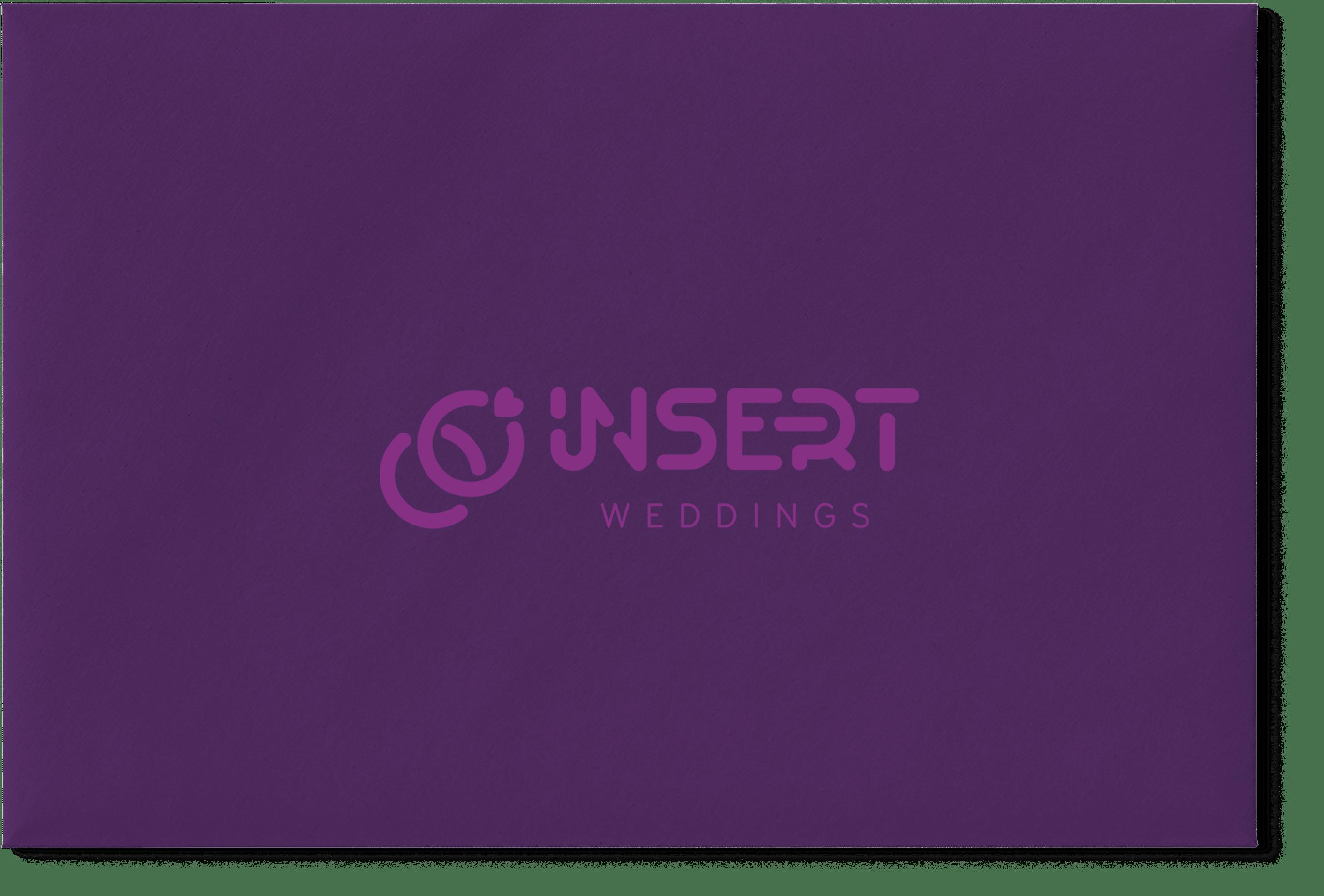 insert weddings purple envelope mockup