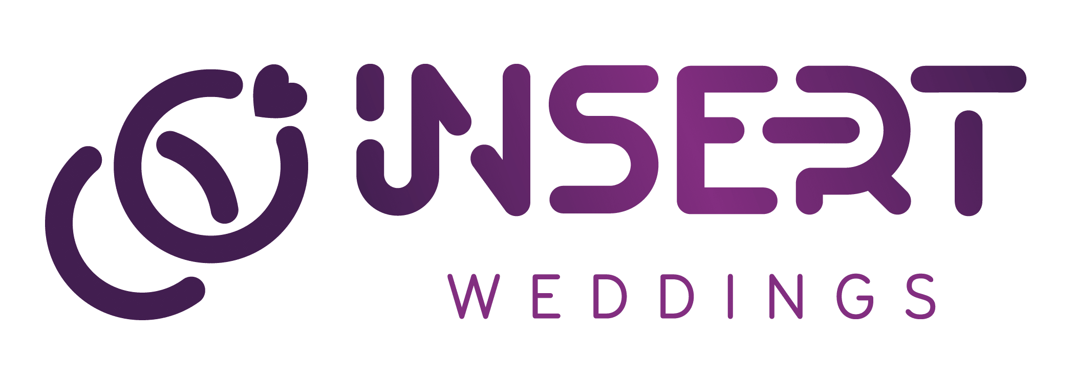 insert weddings rebranding purple logo