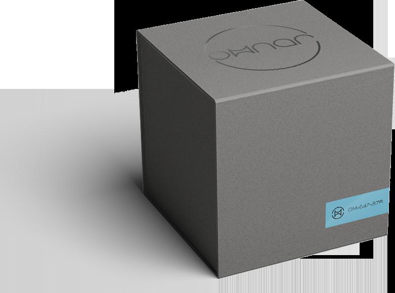 omnar luxury brand design grey box packaging