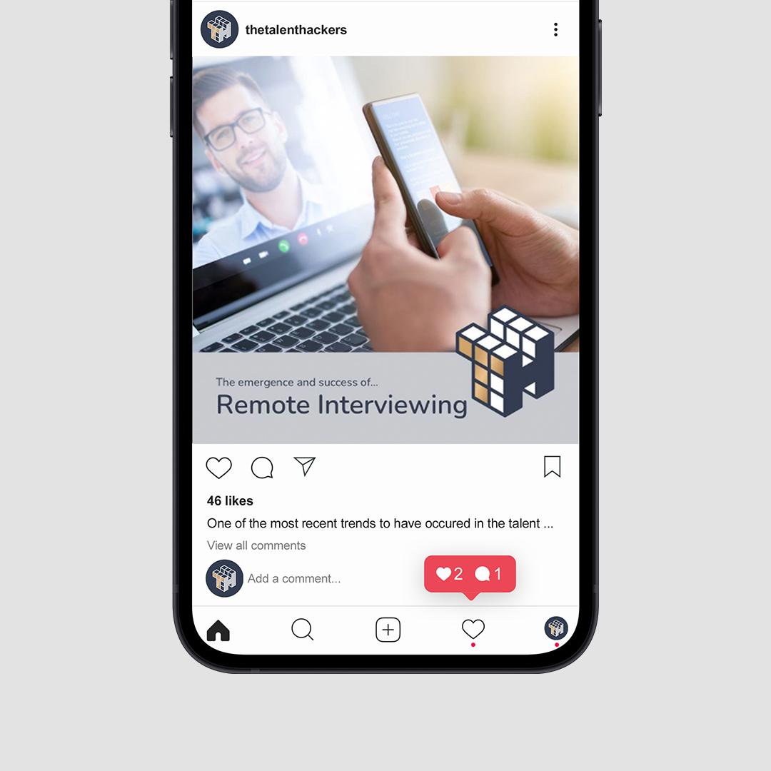 talent hackers instagram post on iphone