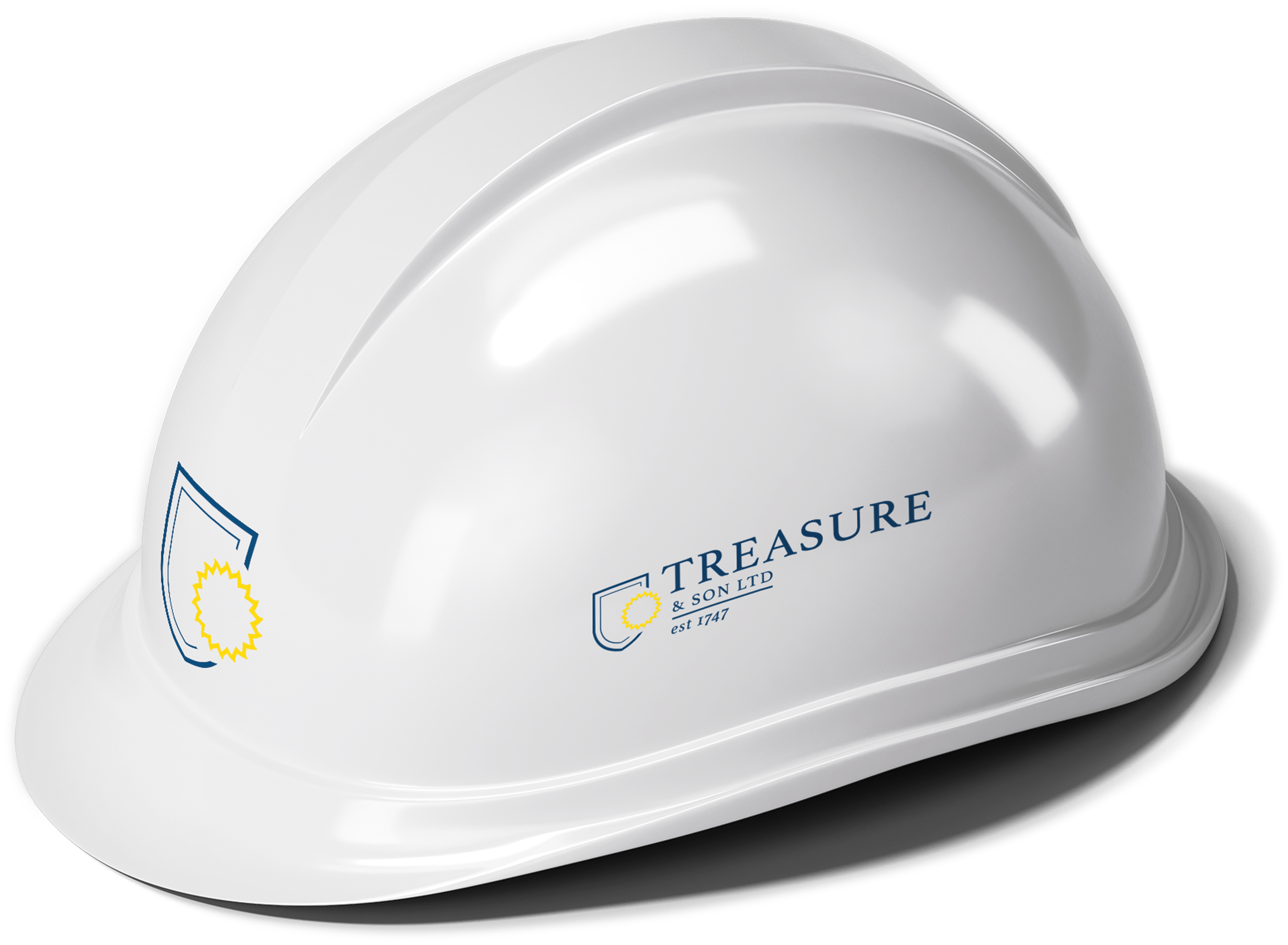 Treasure and sons logo rebranding on construction hat