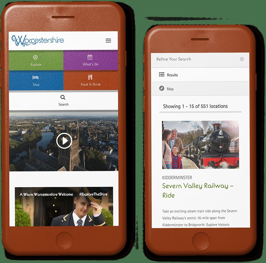 web design agency Visit Worcestershire website