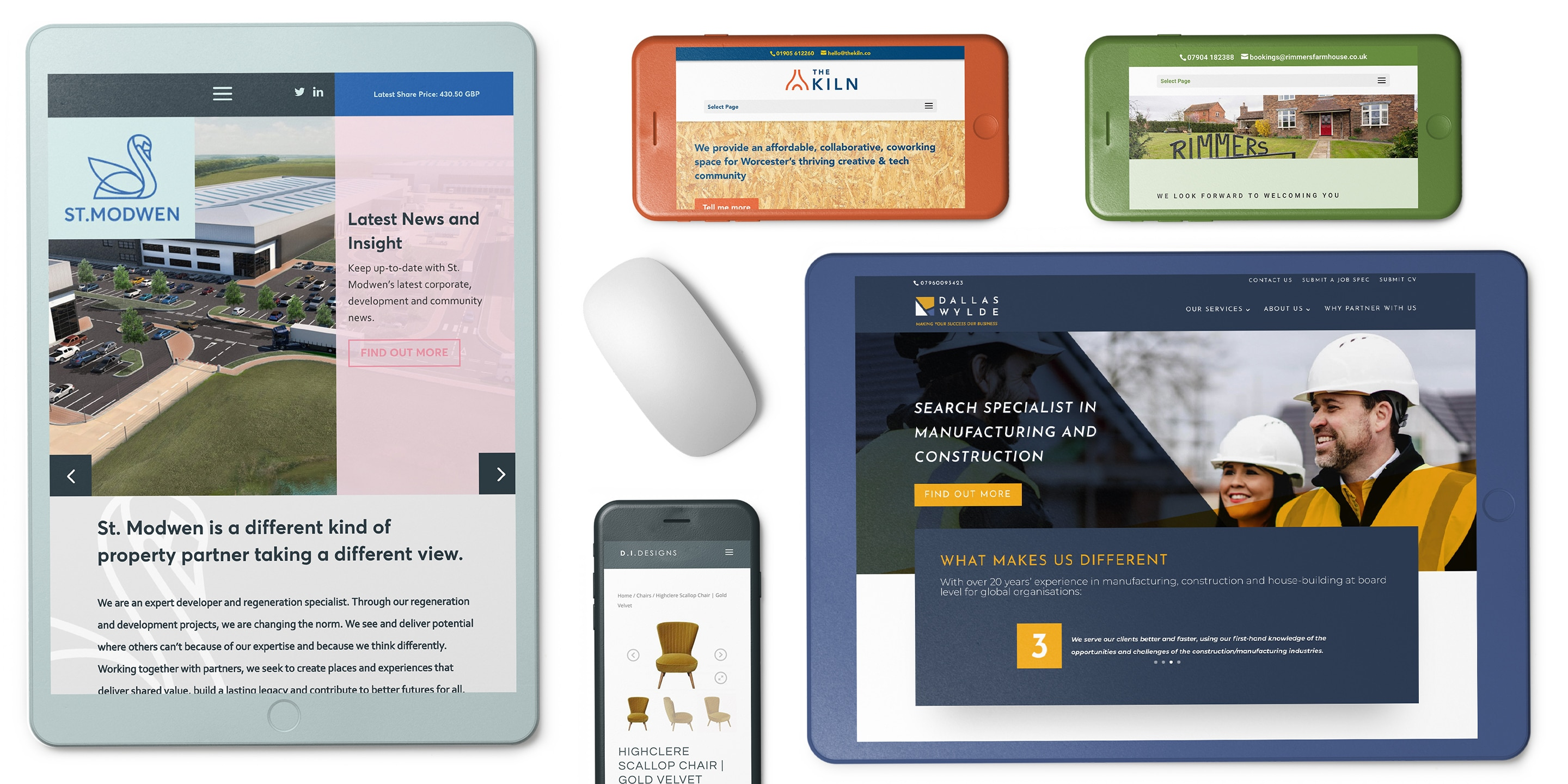 a collection of images showing great web design images